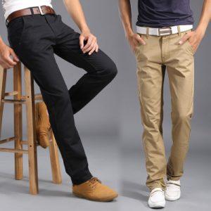 Новые-Классические-мужские-летние-брюки-Высокое-Качество-Slim-Fit-Хлопок-Формальный-Мужской-Брюки-Случайные-деловой-стиль